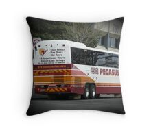 Flying off Throw Pillow