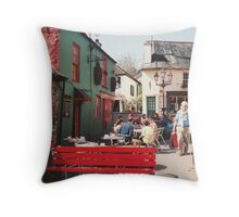The Red Bench in Kinsale Throw Pillow