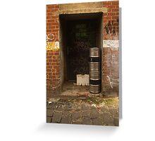 Back Door Barrels Greeting Card