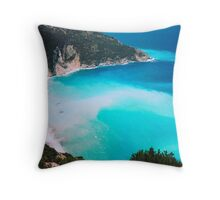 Myrtos Beach, Kefalonia, Greece Throw Pillow