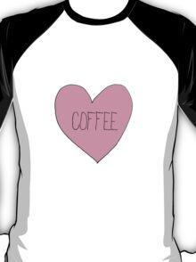 Coffee Sassy Candy Heart T-Shirt