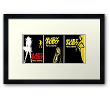 Mary, Mary, Quite Contrary (3 Panel) Framed Print