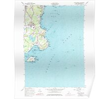 Maine USGS Historical Map Cape Elizabeth 104996 1957 24000 Poster
