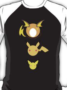 Pichu, Pikachu, Raichu Pokedots T-Shirt