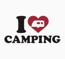 I love camping caravan trailer Baby Tee