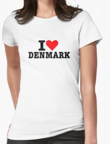 I love Denmark Womens Fitted T-Shirt