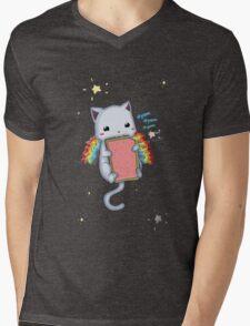 Nyom Cat Mens V-Neck T-Shirt