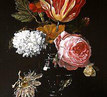 bloemen in een vaas,met een passiebloem by pucci ferraris