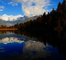 Lake Matheson Reflections by chriso