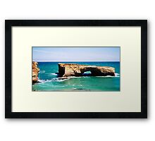 London Arch on the Great Ocean Road Framed Print