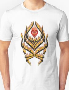 Flaming heart and tribal design T-Shirt