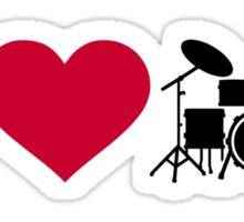 I love drums percussion Sticker