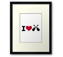 I love guitars Framed Print