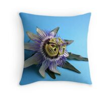 Passion flower in square format Throw Pillow