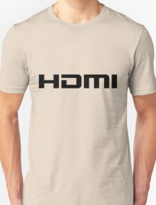 HDMI Black Unisex T-Shirt