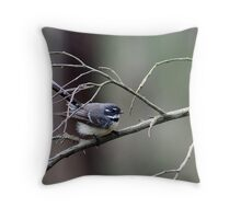 "Grey Fantail ""Rhipidura fuliginosa"" Throw Pillow"