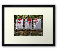 Red, White and True Framed Print