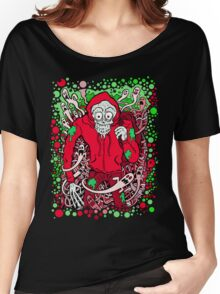 Hooded Skeleton Red Women's Relaxed Fit T-Shirt
