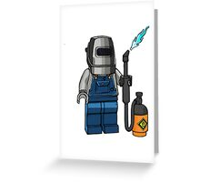 Lego torcher Greeting Card