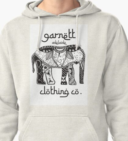 Garnett Elephant Print Pullover Hoodie