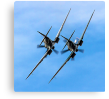 Two BBMF Spitfire PR.XIXs Canvas Print