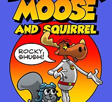 Danger Moose (and squirrel) by claygrahamart