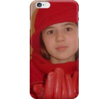 Young Lady In Red iPhone Case/Skin