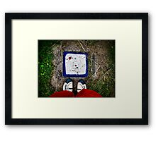 Still life with shoes and white stone Framed Print
