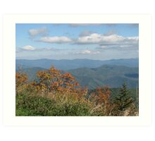 Smokey Mountain National Park, view from Clingmans Dome Art Print
