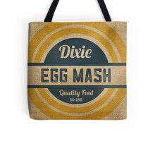 Vintage Burlap Dixie Egg Mash Feed Sack Tote Bag