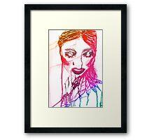 Ink Girl 2 Framed Print