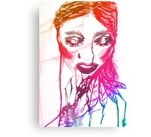 Ink Girl 2 Canvas Print