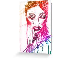 Ink Girl 2 Greeting Card