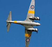 Avro Anson T.21 WD413 G-VROE banking by Colin Smedley