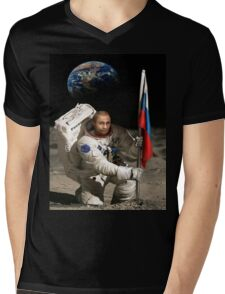 Putin in Space Mens V-Neck T-Shirt