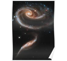 """A """"Rose"""" Made of Galaxies - Hubble Space Telescope Poster"""