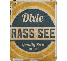 Vintage Burlap Dixie Grass Seed Sack iPad Case/Skin
