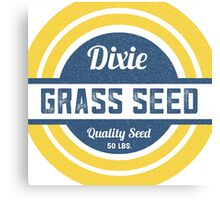 Dixie Grass Seed Vintage Feed Sack typography Canvas Print