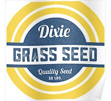 Dixie Grass Seed Vintage Feed Sack typography Poster
