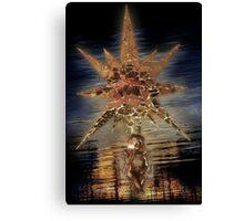 MirrorStar&Angel'sSoul . a ChristmasCard Canvas Print