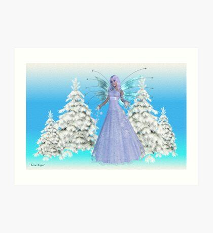 Snowflake Fae Art Print