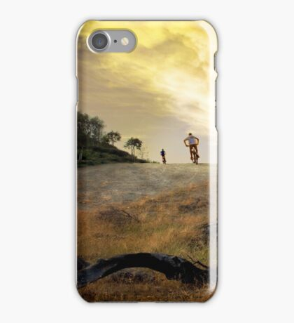 Bikers in colorful Sunset iPhone Case/Skin