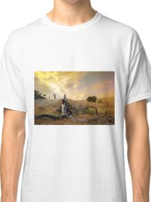 Bikers in colorful Sunset Classic T-Shirt