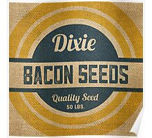 Bacon Seed Vintage Burlap Sack Poster