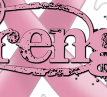 Strength Pink Ribbon Sticker