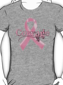 Courage Pink Ribbon T-Shirt