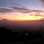 Sunrise through the fog 2 by Rosy Kueng