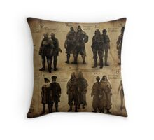 Dark Souls- The Classes  Throw Pillow