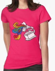 Gramophone Rainbow Womens Fitted T-Shirt