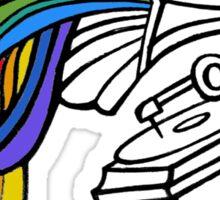 Gramophone Rainbow Sticker